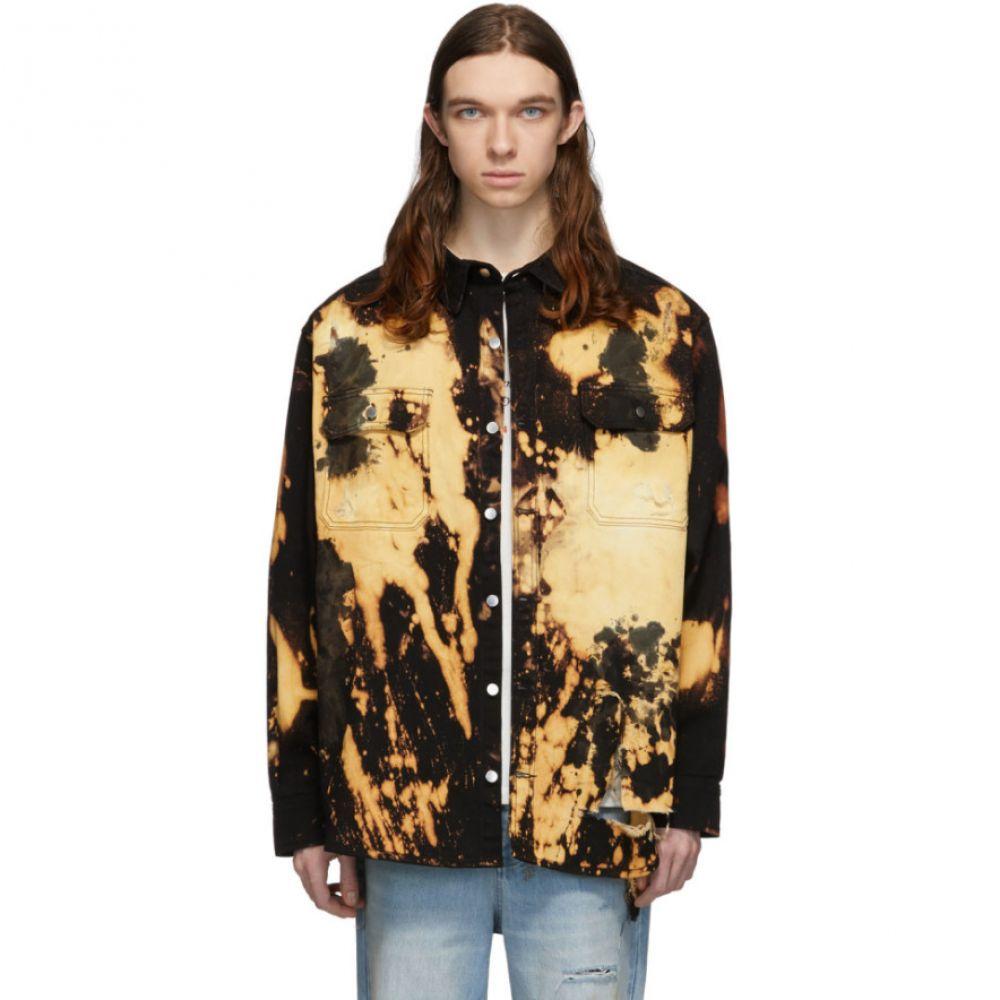 フォートゥーフォー 424 メンズ ジャケット アウター【Black Bleach Heavy Destruct Workwear Jacket】Black bleach