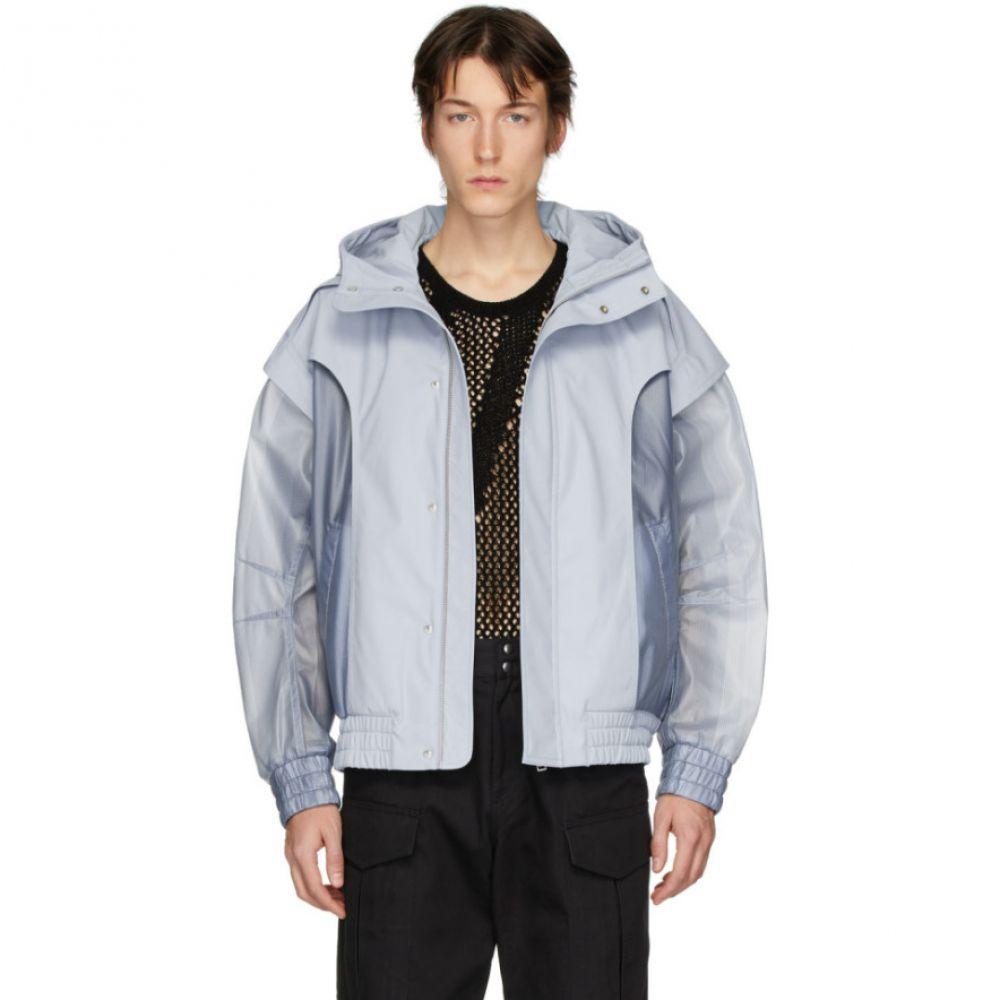 フェン チェン ワン Feng Chen Wang メンズ ジャケット アウター【Blue Mesh Jacket】Blue fog