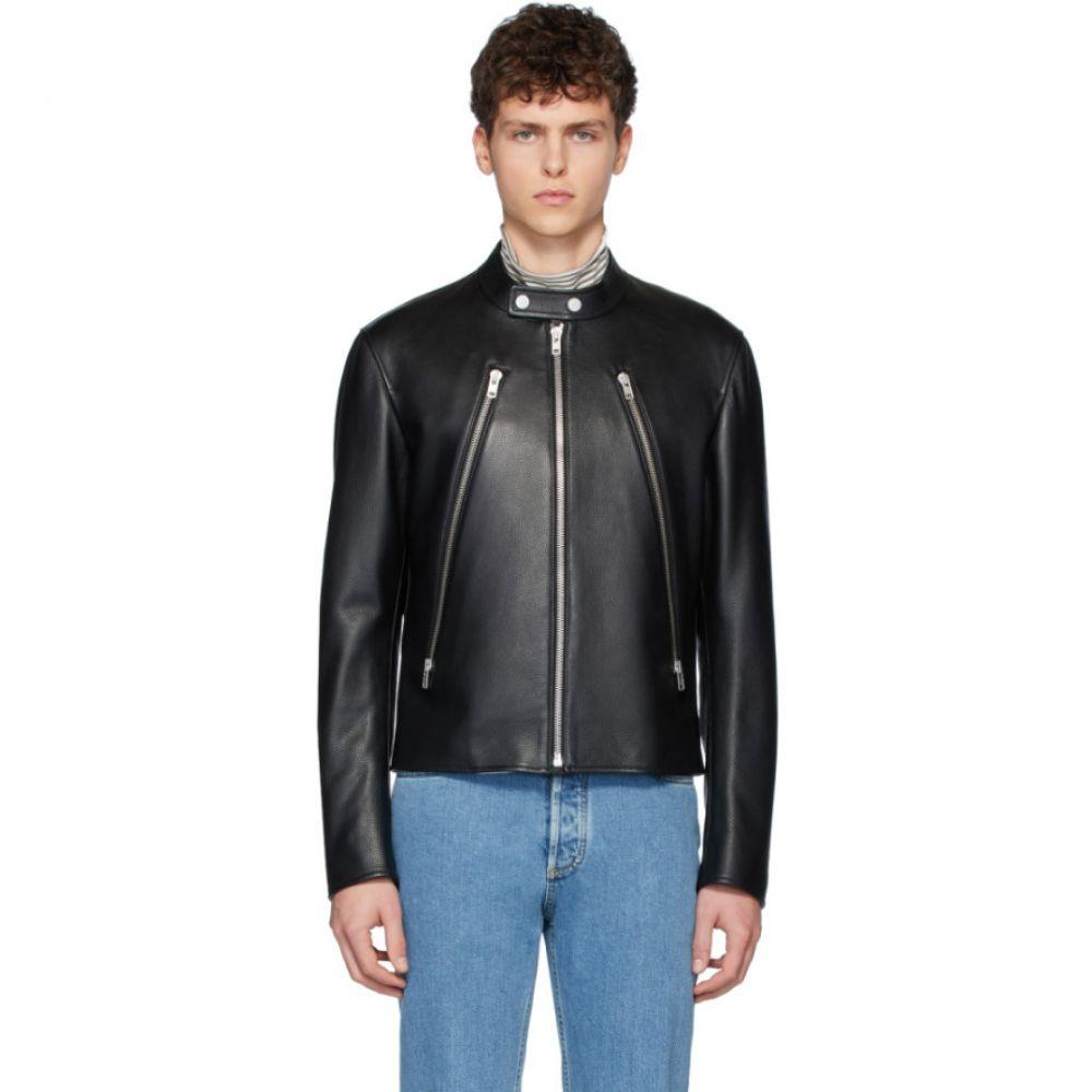 メゾン マルジェラ Maison Margiela メンズ レザージャケット アウター【Black Leather Sports Jacket】Black