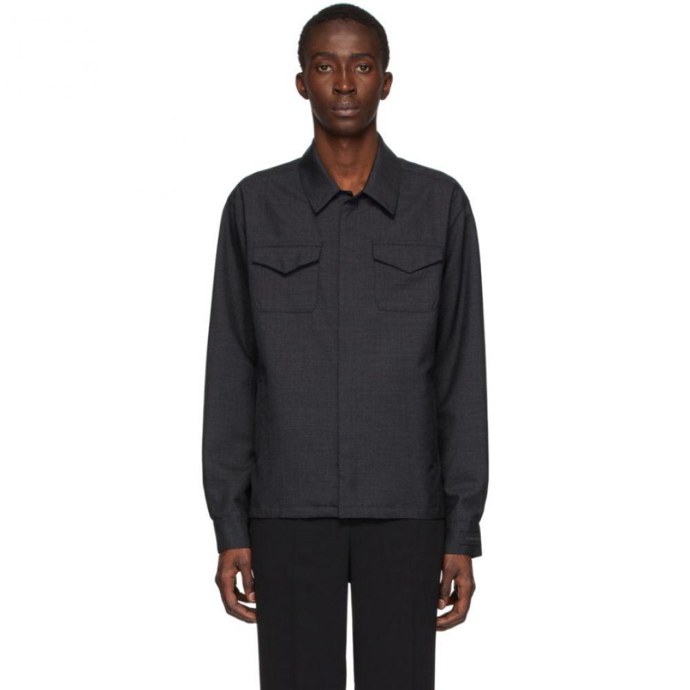 アンダーカバー Undercover メンズ ジャケット オーバーシャツ アウター【Grey Wool Overshirt Jacket】Charcoal