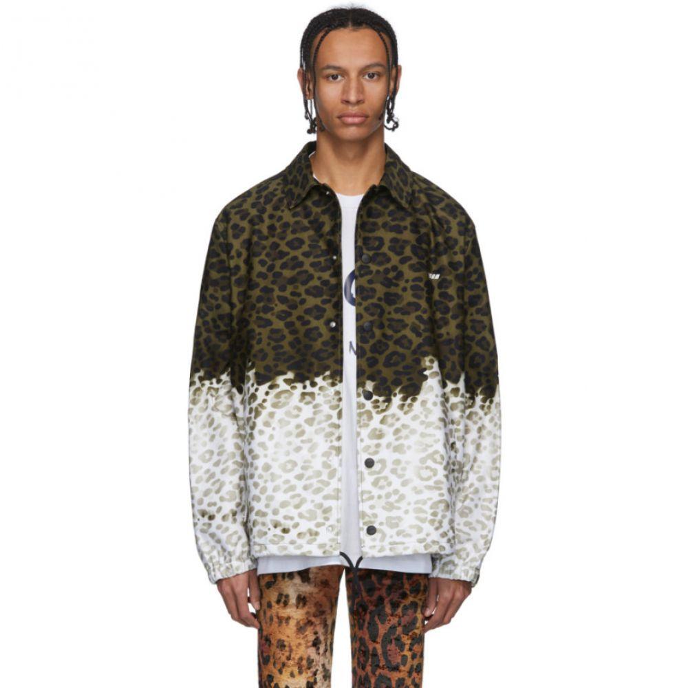 エムエスジーエム MSGM メンズ ジャケット アウター【Green & Off-White Animalier Print Jacket】Army