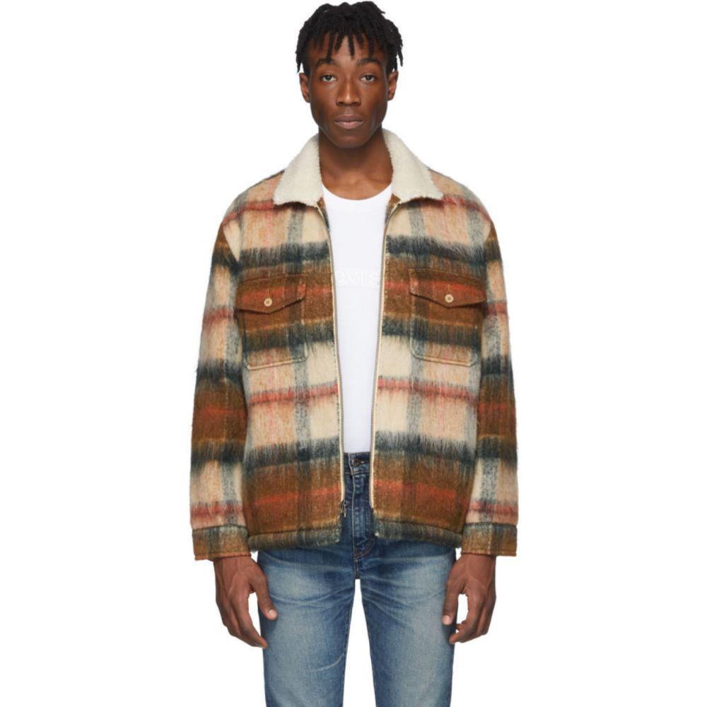 リーバイス Levi's Made & Crafted メンズ コート アウター【Brown Wool Sherpa Ranch Coat】Temescal leather brown