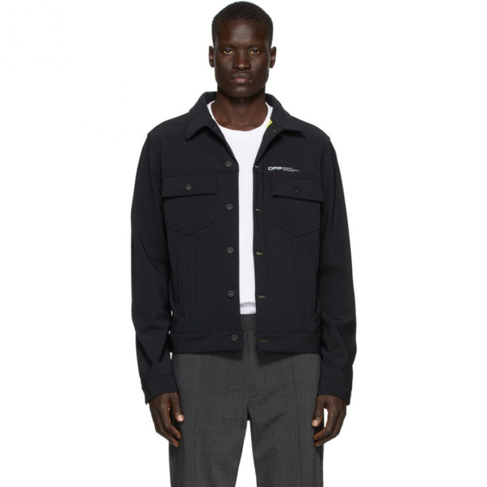 オフホワイト Off-White メンズ ジャケット アウター【Black Slim Scuba Jacket】Black/White