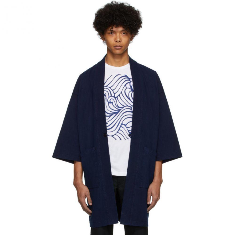 ブルーブルージャパン Blue Blue Japan メンズ ジャケット アウター【Blue Firm Jersey Hanten Jacket】Indigo