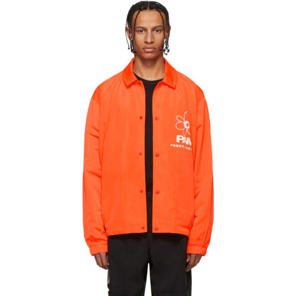 パークスアンドミニ Perks and Mini メンズ ジャケット コーチジャケット アウター【Orange View Coach Jacket】Safety orange