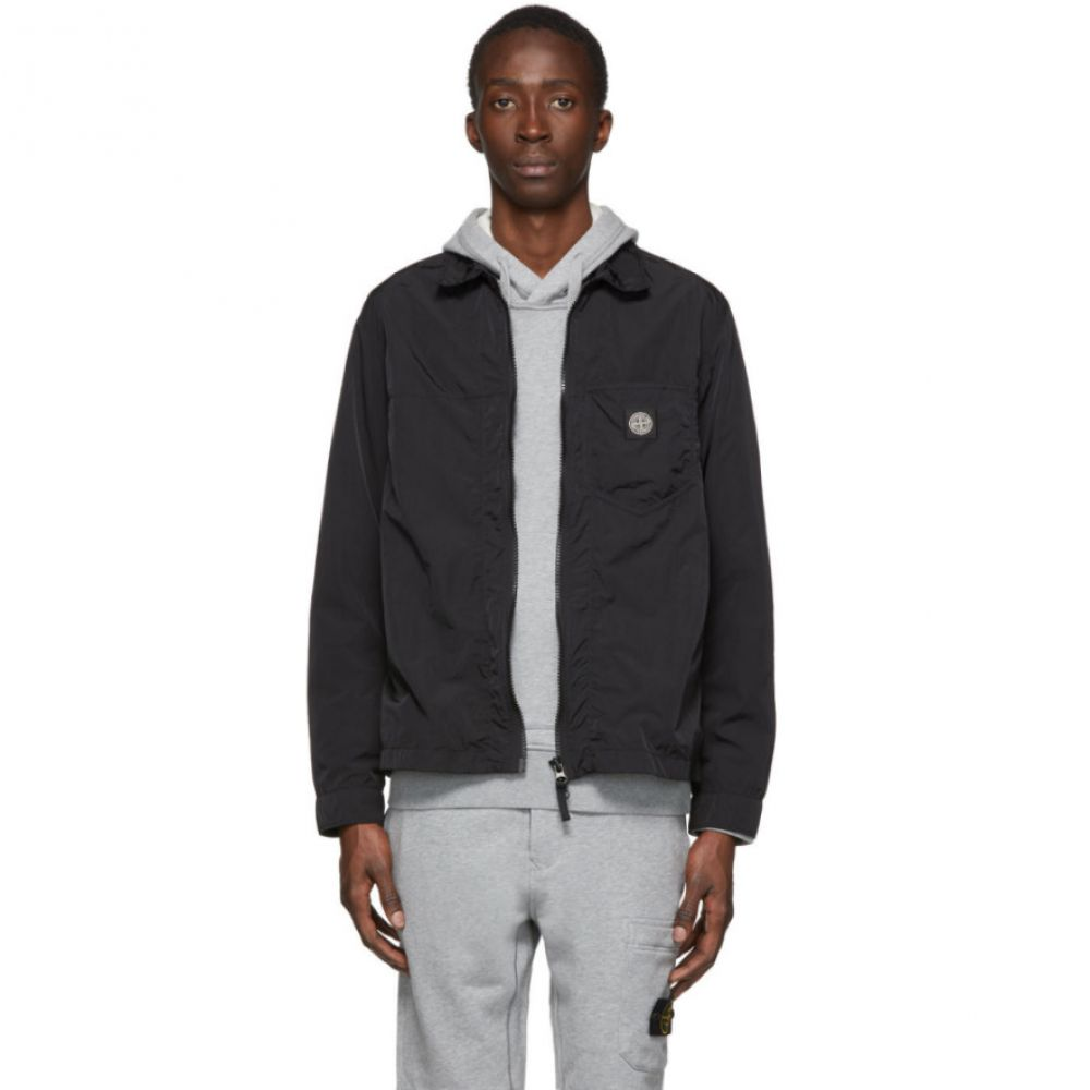 ストーンアイランド Stone Island メンズ ジャケット オーバーシャツ アウター【Black Taffeta Overshirt Jacket】Black