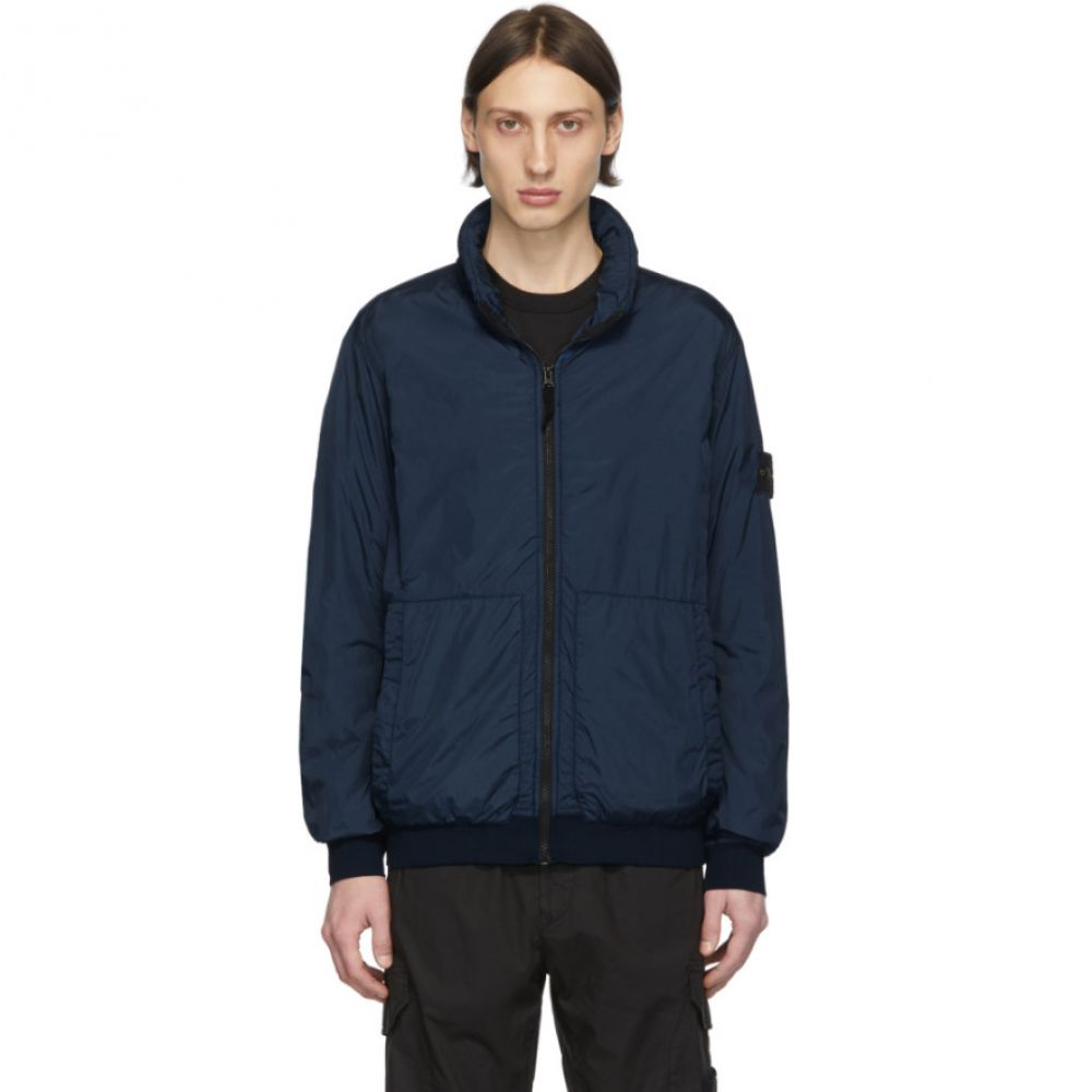 ストーンアイランド Stone Island メンズ ジャケット アウター【Blue Nylon Zip-Up Jacket】Blue marine