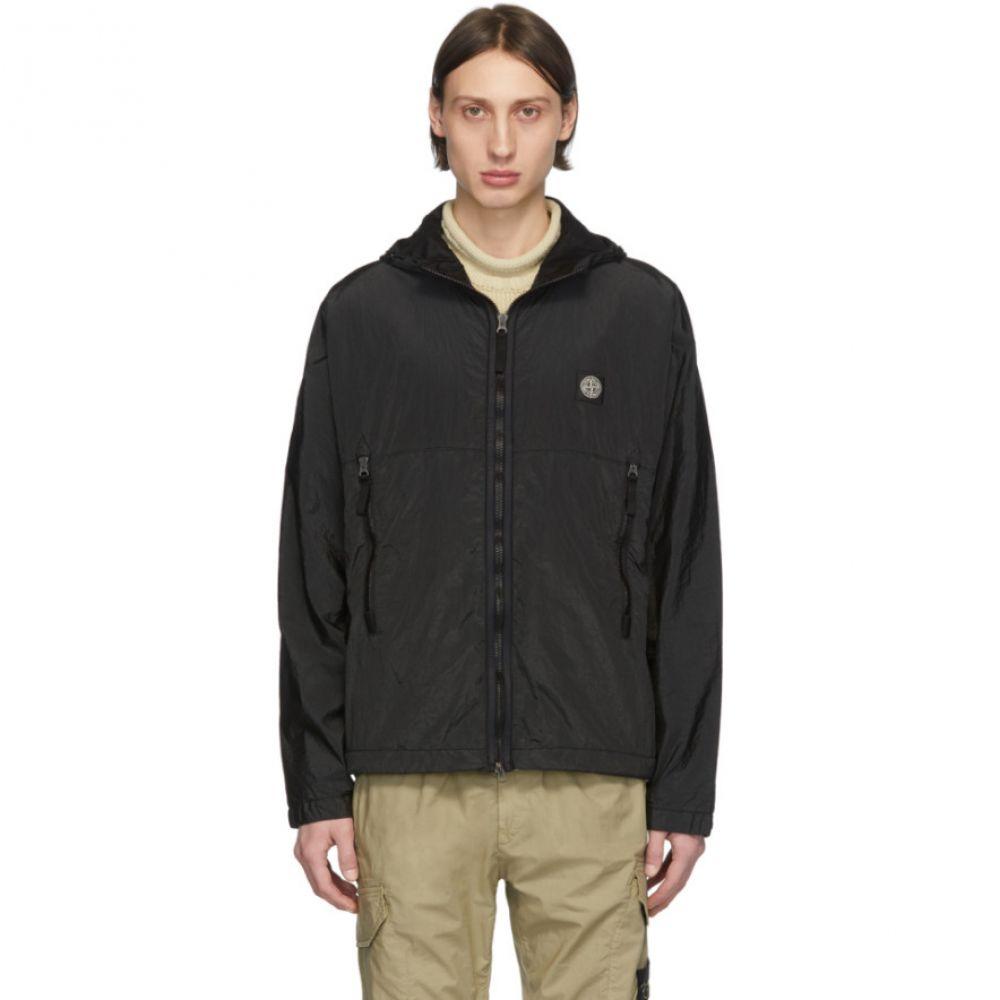 ストーンアイランド Stone Island メンズ ジャケット フード アウター【Black Nylon Metal Hooded Jacket】Black