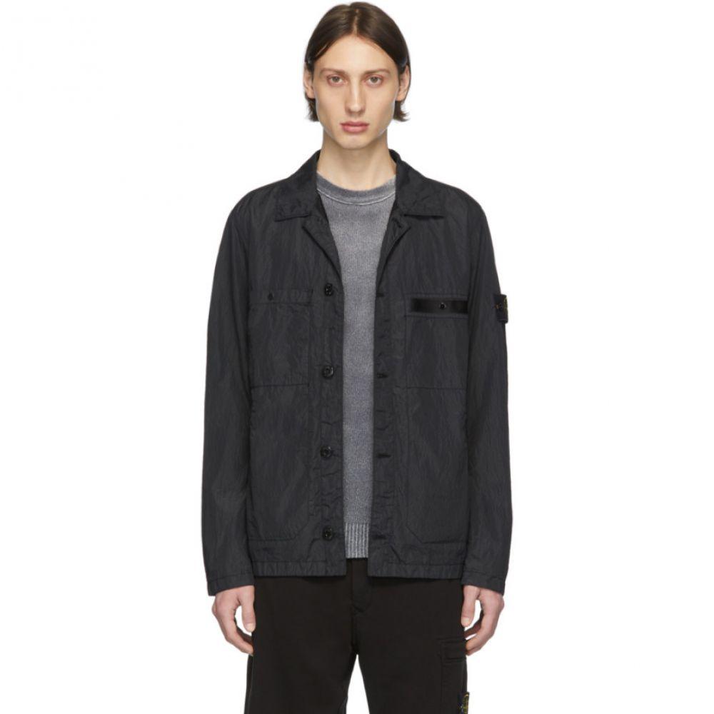 ストーンアイランド Stone Island メンズ ジャケット アウター【Black Nylon Metal Seersucker Jacket】Black