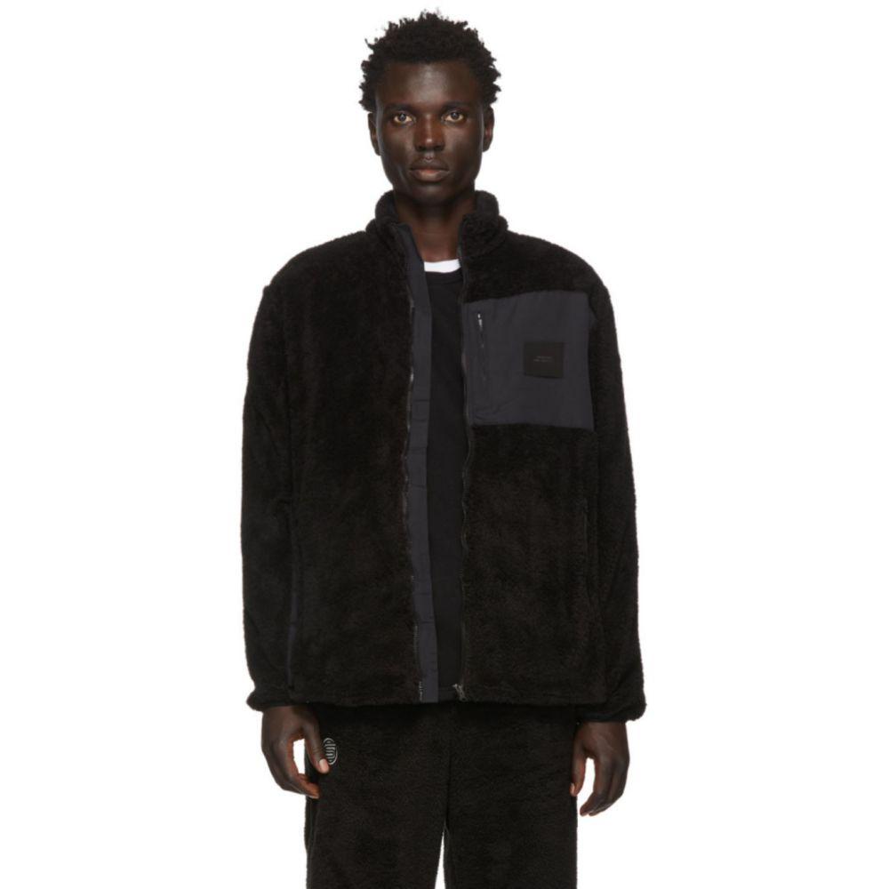 サタデーニューヨーク Saturdays NYC メンズ フリース トップス【Black Fleece Stenstrom Jacket】Black