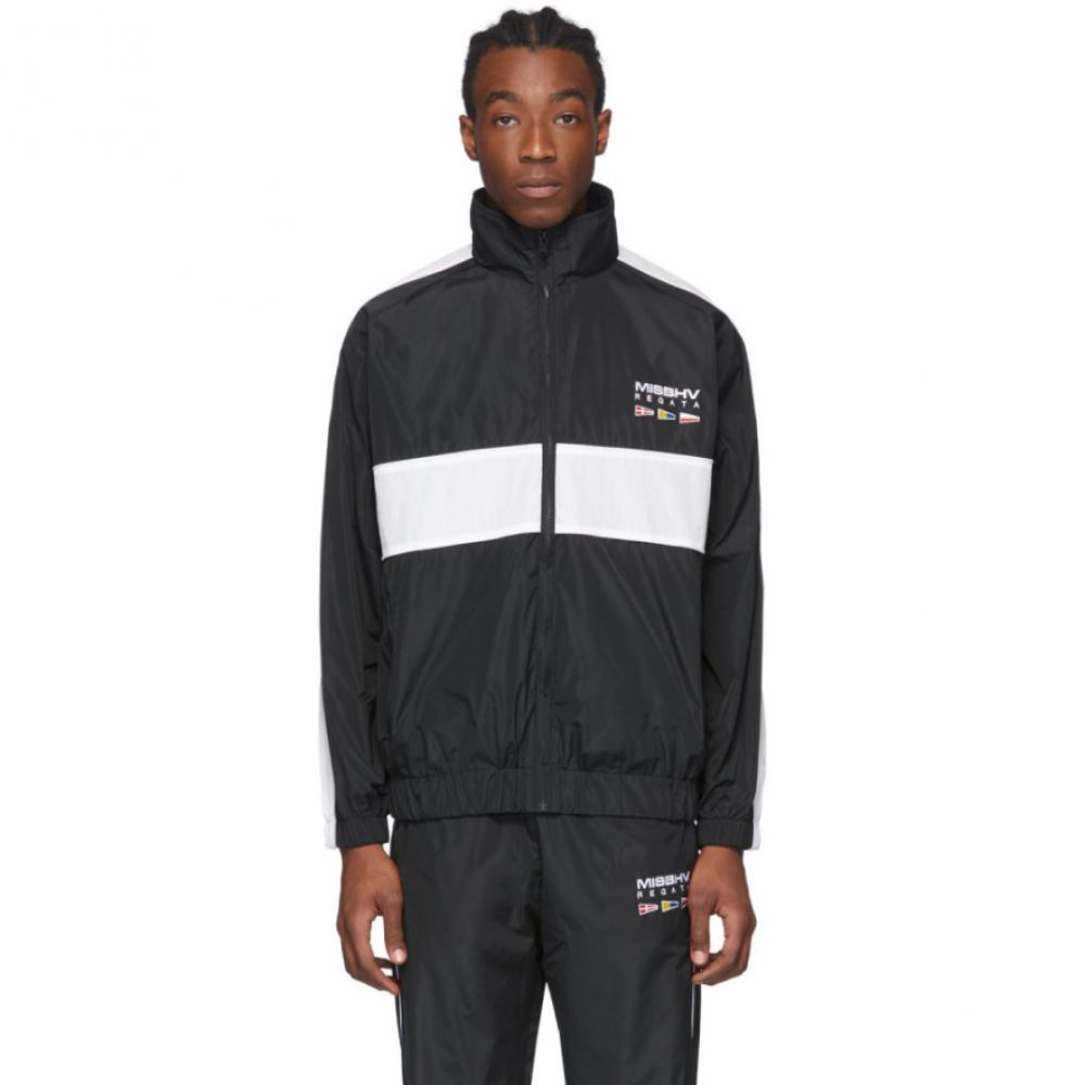 ミスビヘイブ MISBHV メンズ ジャージ アウター【Black 'The Sailing' Track Jacket】Black