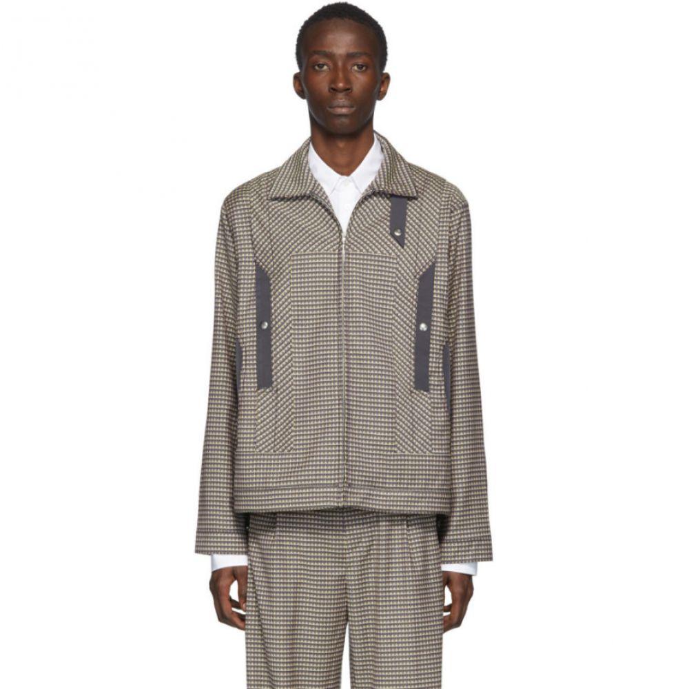 キコ コスタディノフ Kiko Kostadinov メンズ ジャケット アウター【Multicolor Wool Tulcea Jacket】Purple