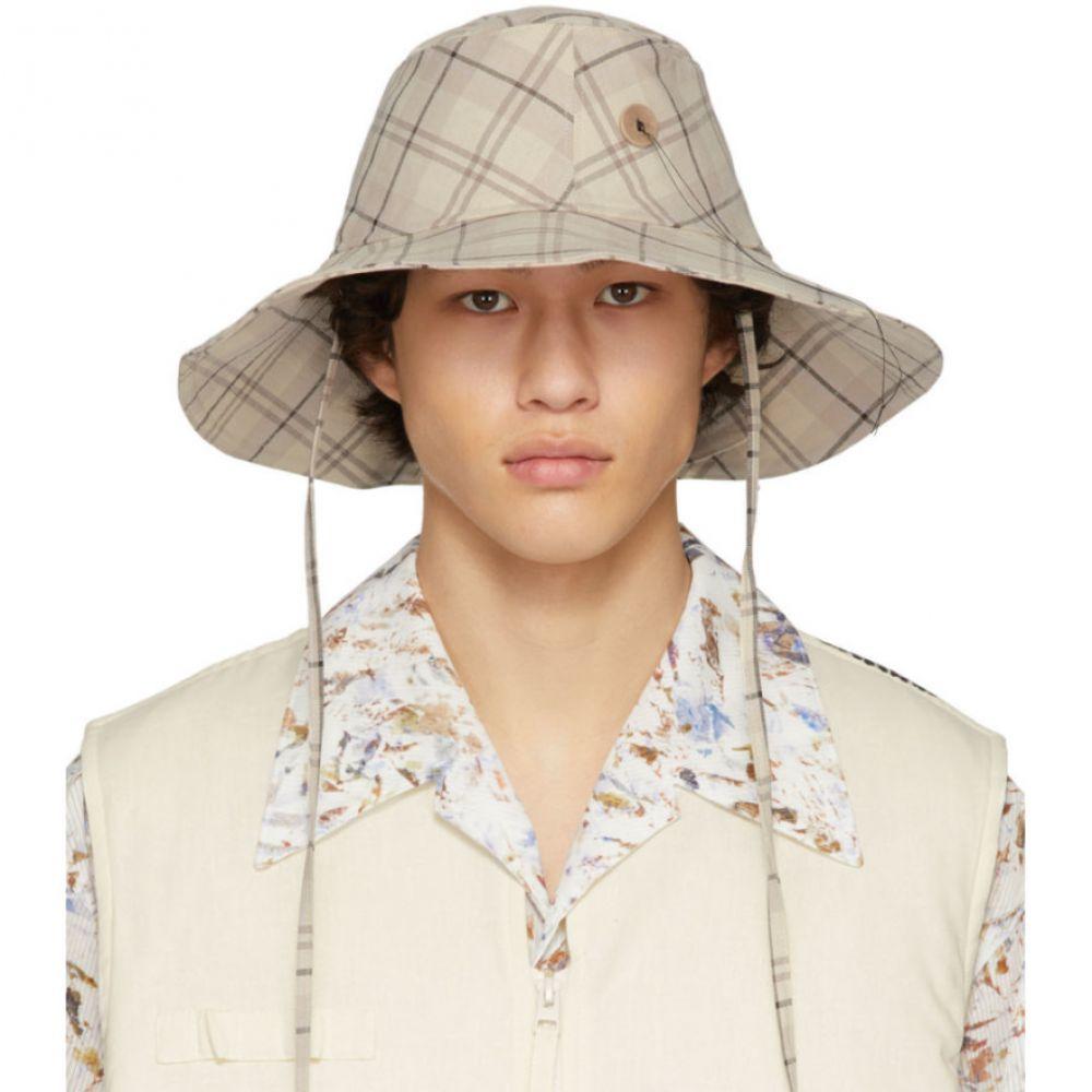 ル オムルージュ L'Homme Rouge メンズ ハット 帽子【Off-White Cut Hat】Light brown