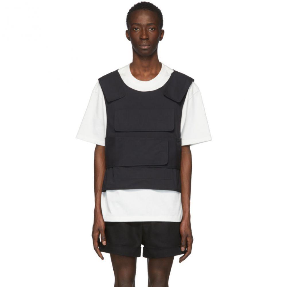 サンクアンズ Sankuanz メンズ Tシャツ トップス【SSENSE Exclusive White Harness T-Shirt】White