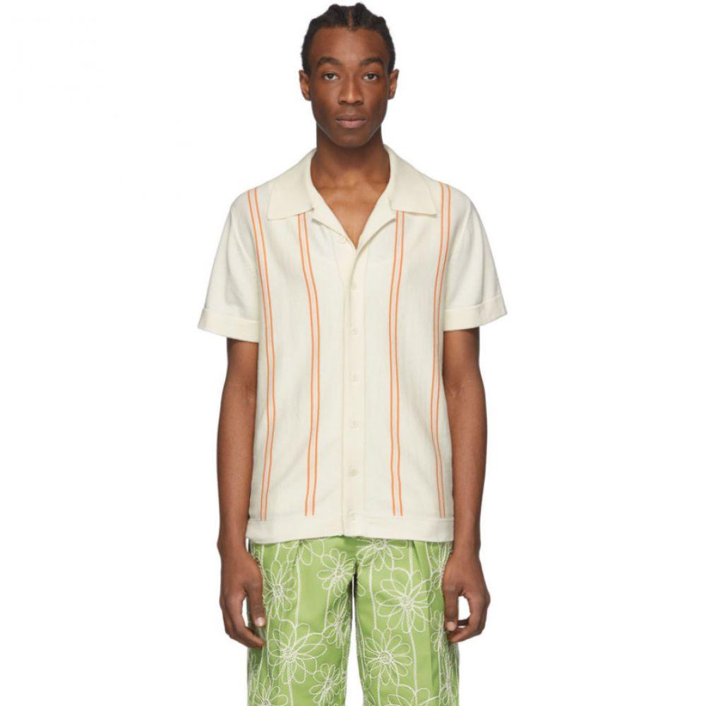 カサブランカ Casablanca メンズ ボウリング ボーリングシャツ トップス【Off-White Bowling Shirt】Off-white