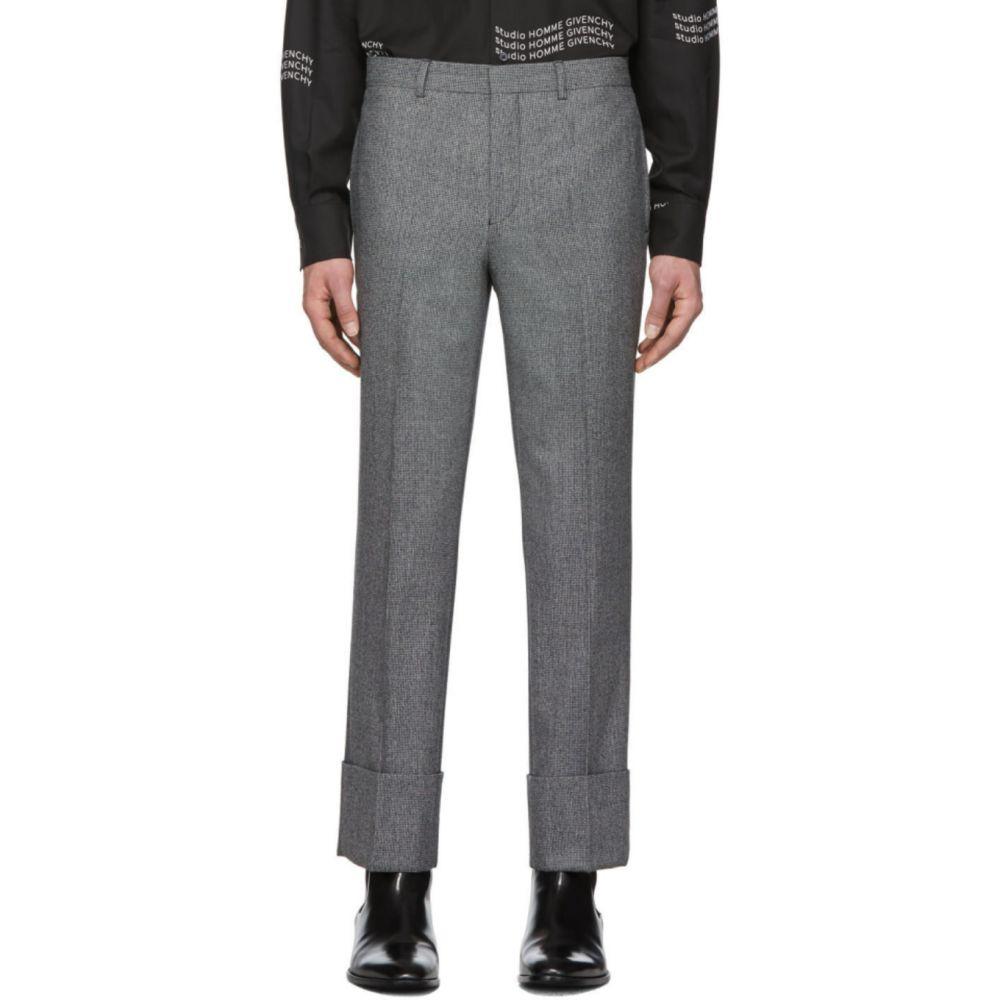 ジバンシー Givenchy メンズ スラックス ボトムス・パンツ【Black & White Wool Trousers】Black/White