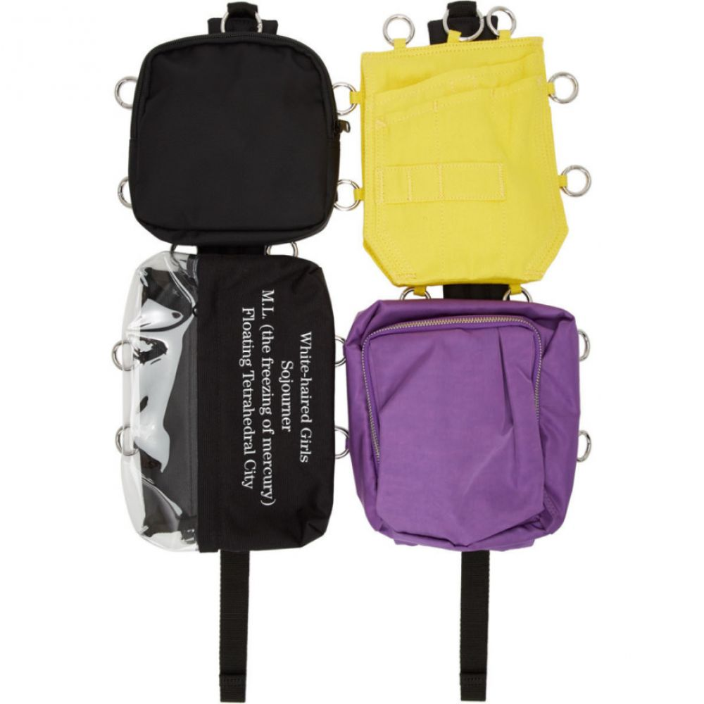 ラフ シモンズ Raf Simons レディース バックパック・リュック バッグ【SSENSE Exclusive Multicolor Eastpak Edition Loop Quote Backpack】Supplier color:Black/Yellow/Purple