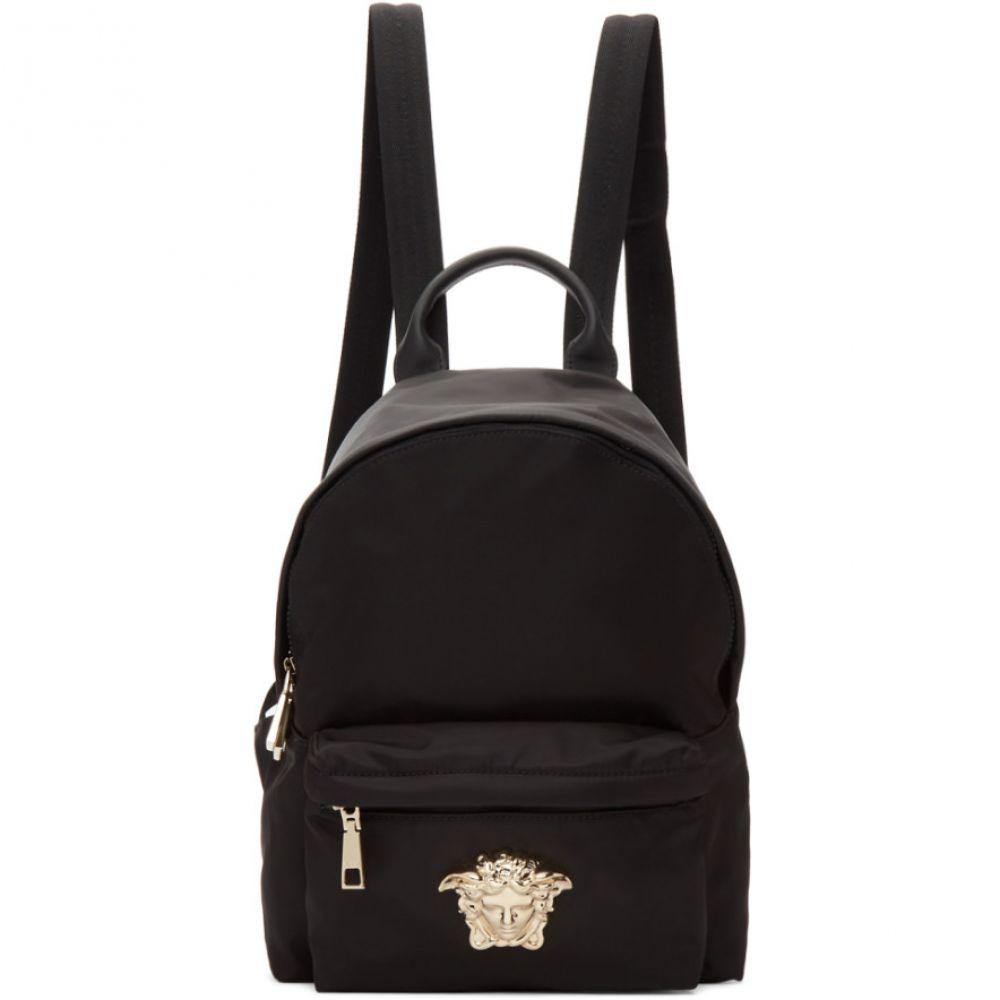 ヴェルサーチ Versace レディース バックパック・リュック バッグ【Black Nylon Palazzo Backpack】Black