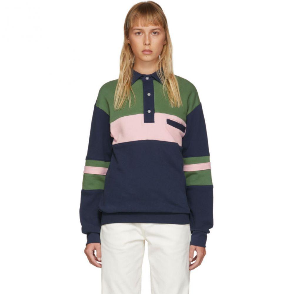 ヌーン グーンズ Noon Goons レディース ポロシャツ トップス【Multicolor Summer Polo】Navy/Pink/Green