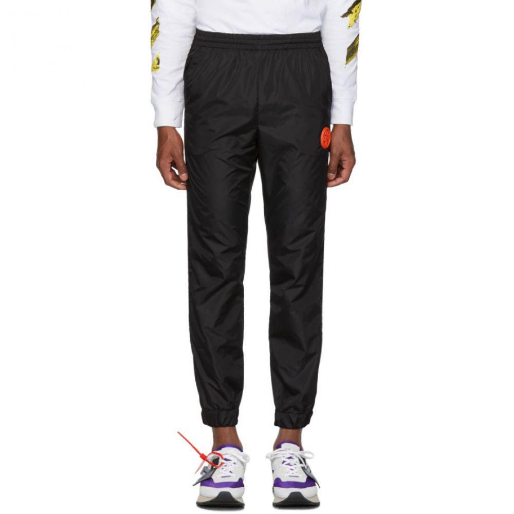 オフホワイト Off-White メンズ スウェット・ジャージ ボトムス・パンツ【Black Nylon Track Pants】Black