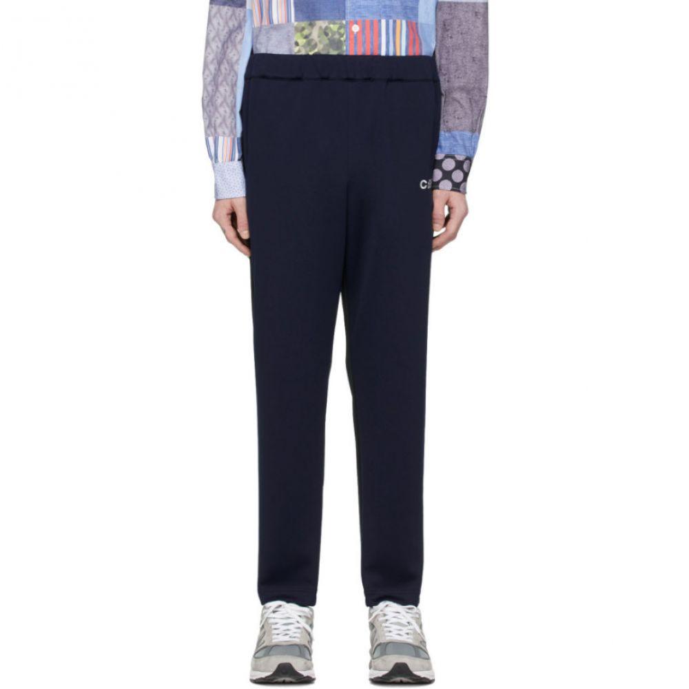 コム デ ギャルソン Comme des Garcons Homme メンズ スウェット・ジャージ ボトムス・パンツ【Black & Navy Jersey Lounge Pants】Black/Navy