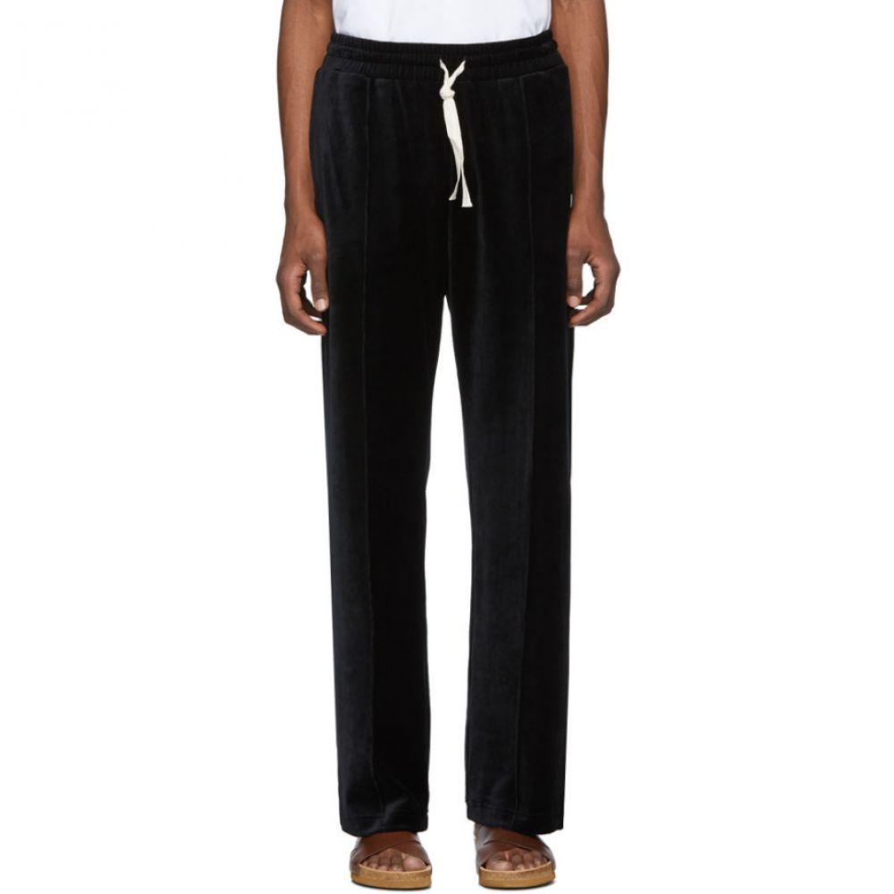 カサブランカ Casablanca メンズ スウェット・ジャージ ボトムス・パンツ【Black Velour Lounge Pants】Black