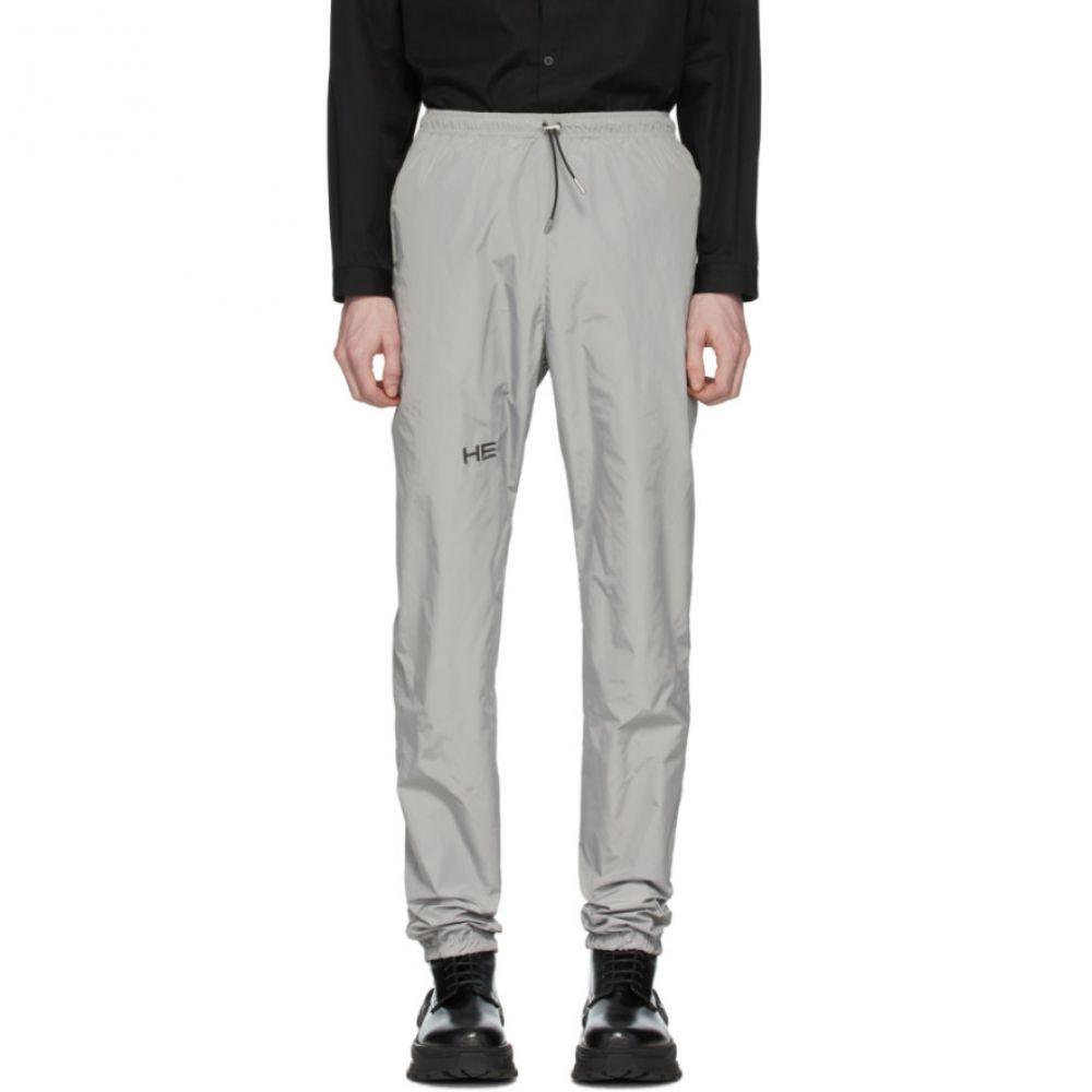 エリオットエミル Heliot Emil メンズ スウェット・ジャージ ボトムス・パンツ【Grey Tech Track Pants】Grey