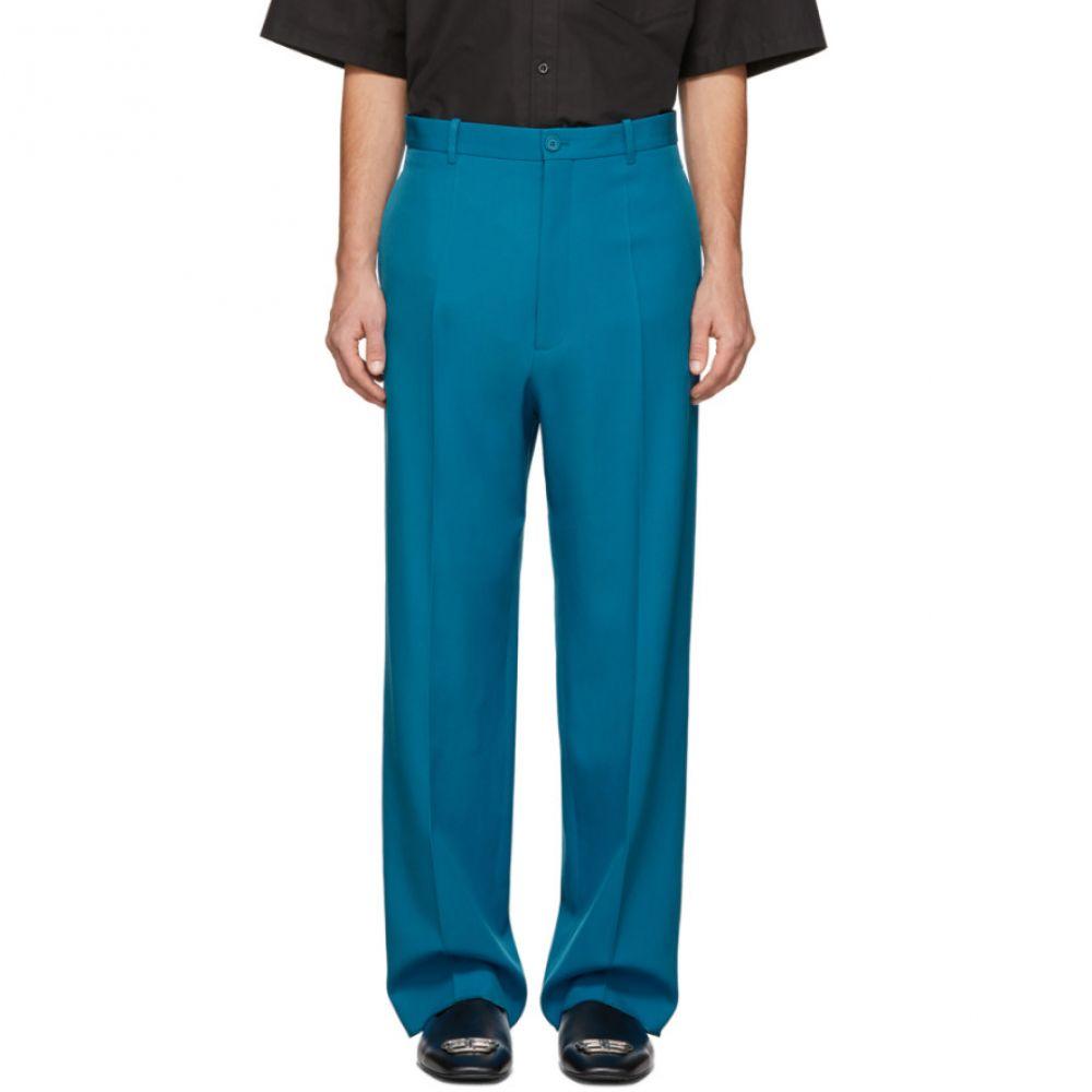 バレンシアガ Balenciaga メンズ スラックス ボトムス・パンツ【Blue Wool Baggy Tailored Trousers】Bahama