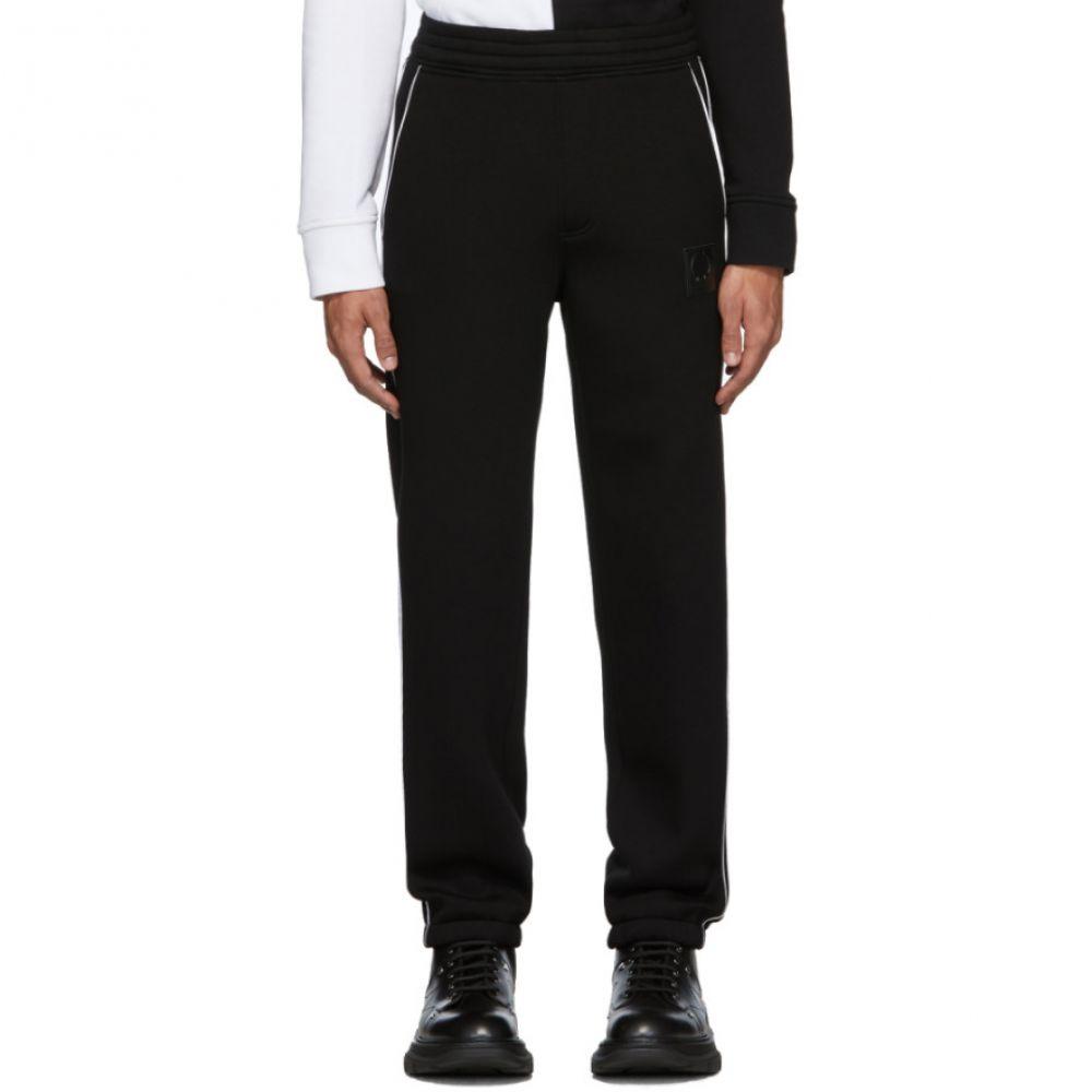 ニール バレット Neil Barrett メンズ スウェット・ジャージ ボトムス・パンツ【Black Knit Lounge Pants】Black/White