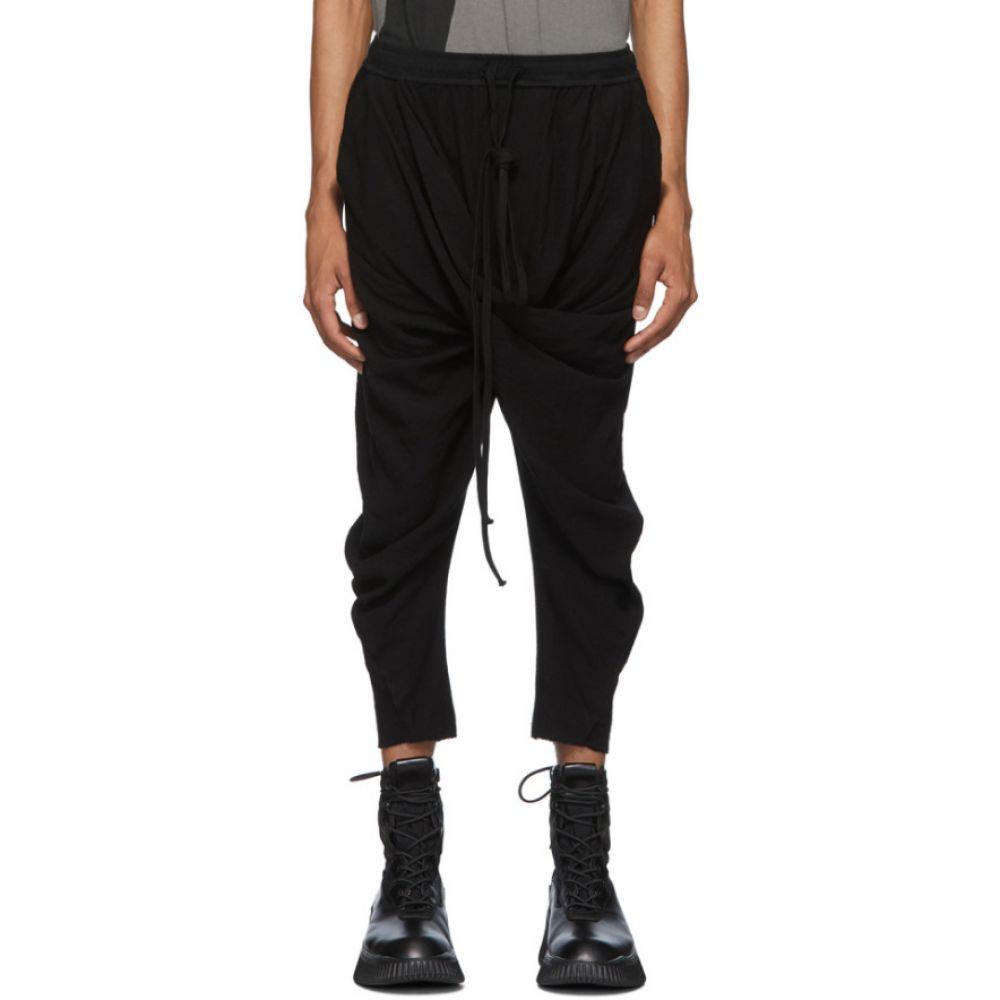 ユリウス Julius メンズ スウェット・ジャージ ボトムス・パンツ【Black Dry Crepe Lounge Pants】Black