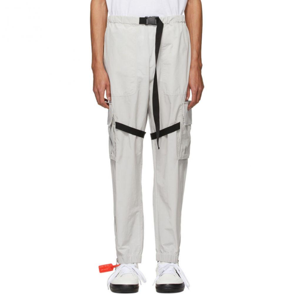 オフホワイト Off-White メンズ カーゴパンツ ボトムス・パンツ【Grey Nylon Cargo Pants】Light grey
