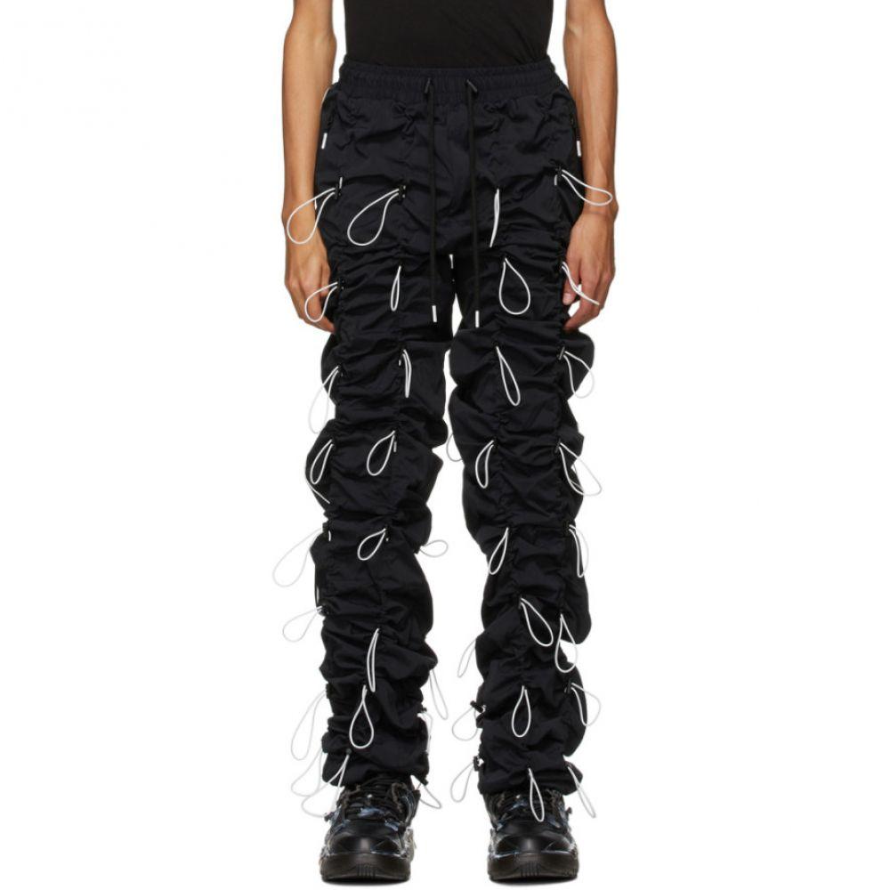 ナインティナインパーセントイズ 99% IS メンズ スウェット・ジャージ ボトムス・パンツ【Black Gobchang Trousers】Black/White