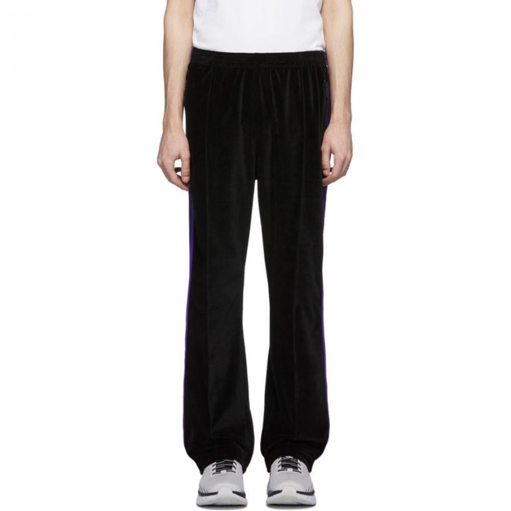 ニードルズ Needles メンズ スウェット・ジャージ ボトムス・パンツ【Black Velour Lounge Pants】Black