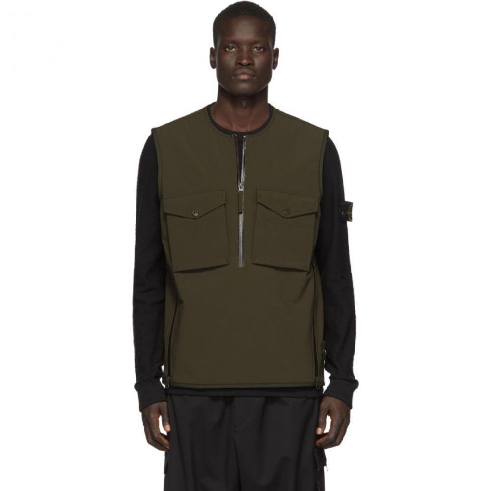 ストーンアイランド Stone Island メンズ ベスト・ジレ トップス【Khaki Stretch 5L Vest】Military green