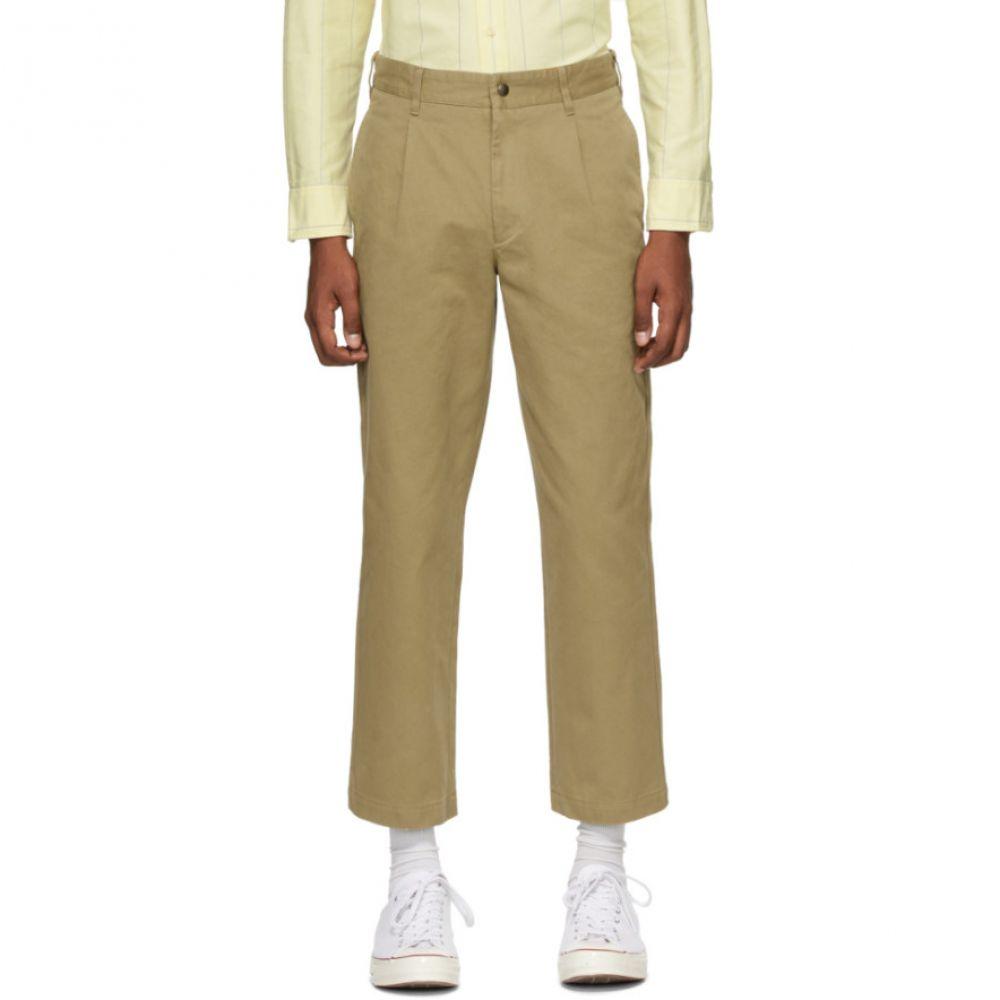 ノア Noah NYC メンズ チノパン ボトムス・パンツ【Khaki Single-Pleat Chino Trousers】Khaki