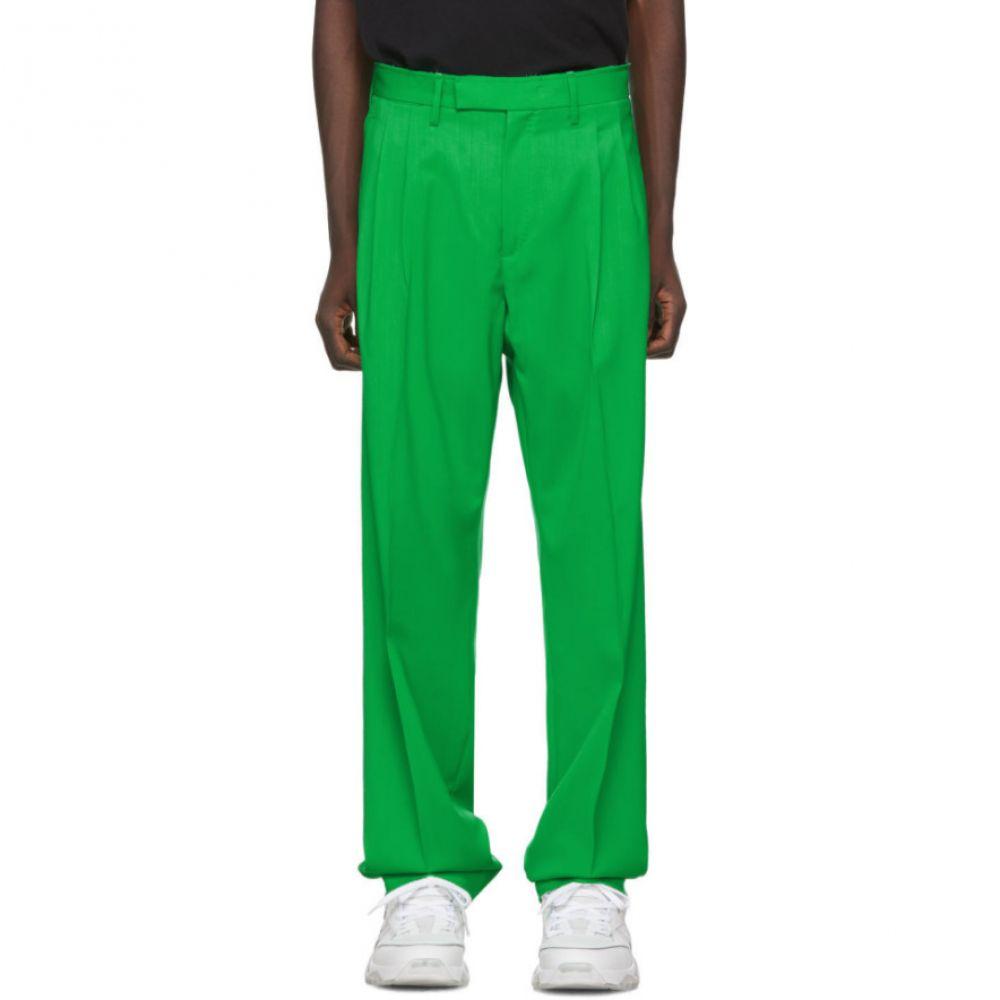 オフホワイト Off-White メンズ スラックス ボトムス・パンツ【Green Wool Classic Trousers】Green/No color