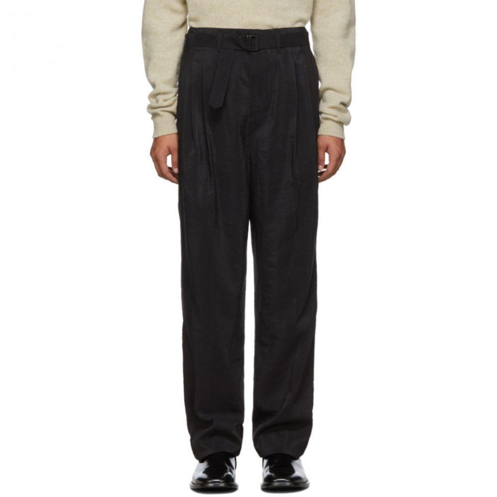 ルメール Lemaire メンズ ボトムス・パンツ 【Tan Silk Pleated Trousers】Tan