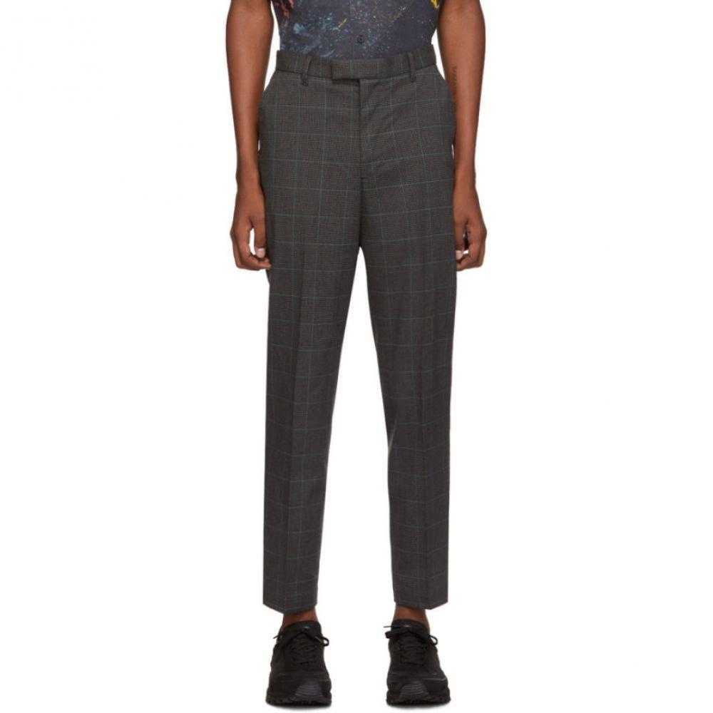 サタデーニューヨーク Saturdays NYC メンズ ボトムス・パンツ 【Black & Blue Plaid Leon Trousers】Black