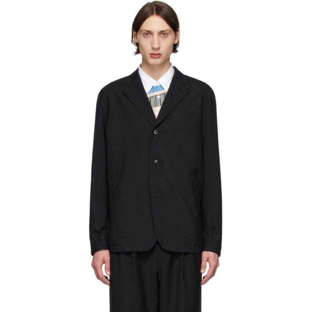 コム デ ギャルソン Comme des Garcons Homme メンズ スーツ・ジャケット アウター【Black Tropical Wool Three-Button Blazer】Black