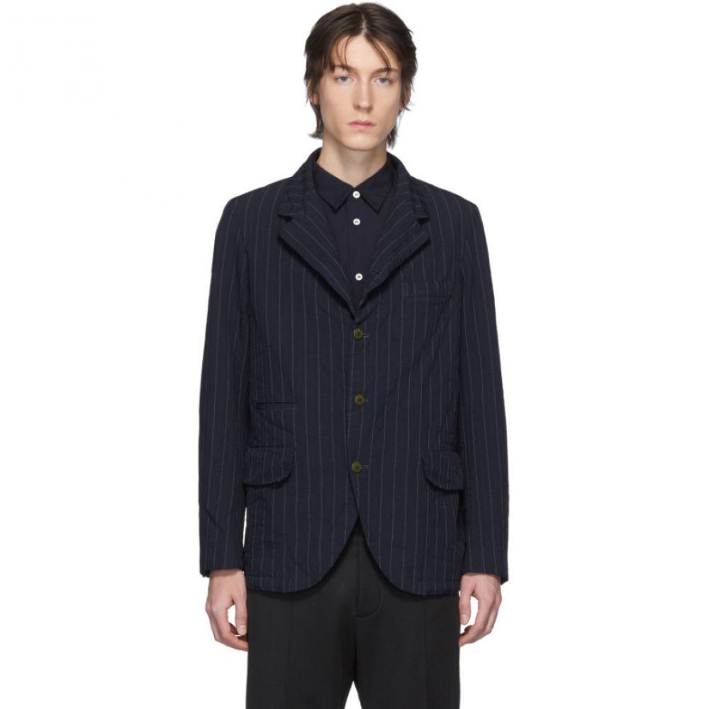 コム デ ギャルソン Comme des Garcons Homme Deux メンズ スーツ・ジャケット アウター【Navy Textured Dobby Blazer】Navy