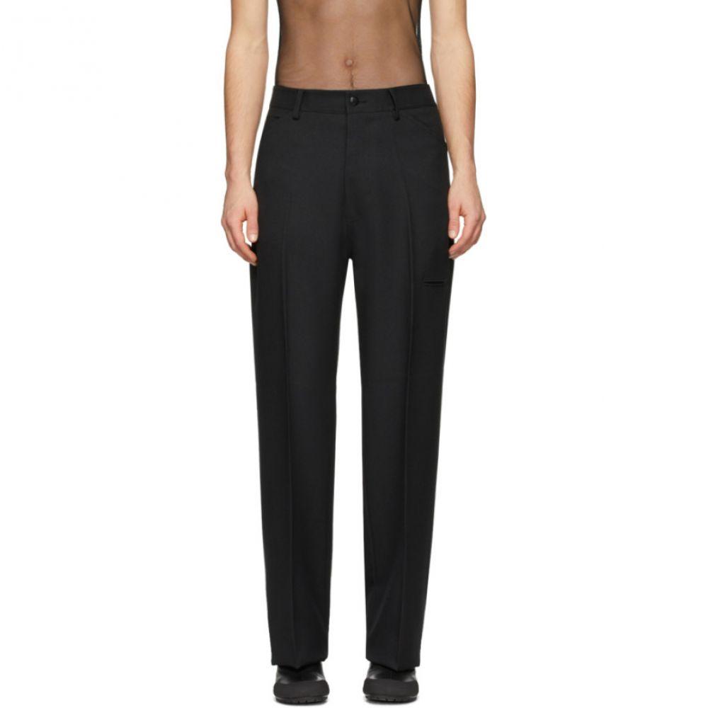 ランダム アイデンティティーズ Random Identities メンズ ボトムス・パンツ 【Black High-Rise Trousers】Black