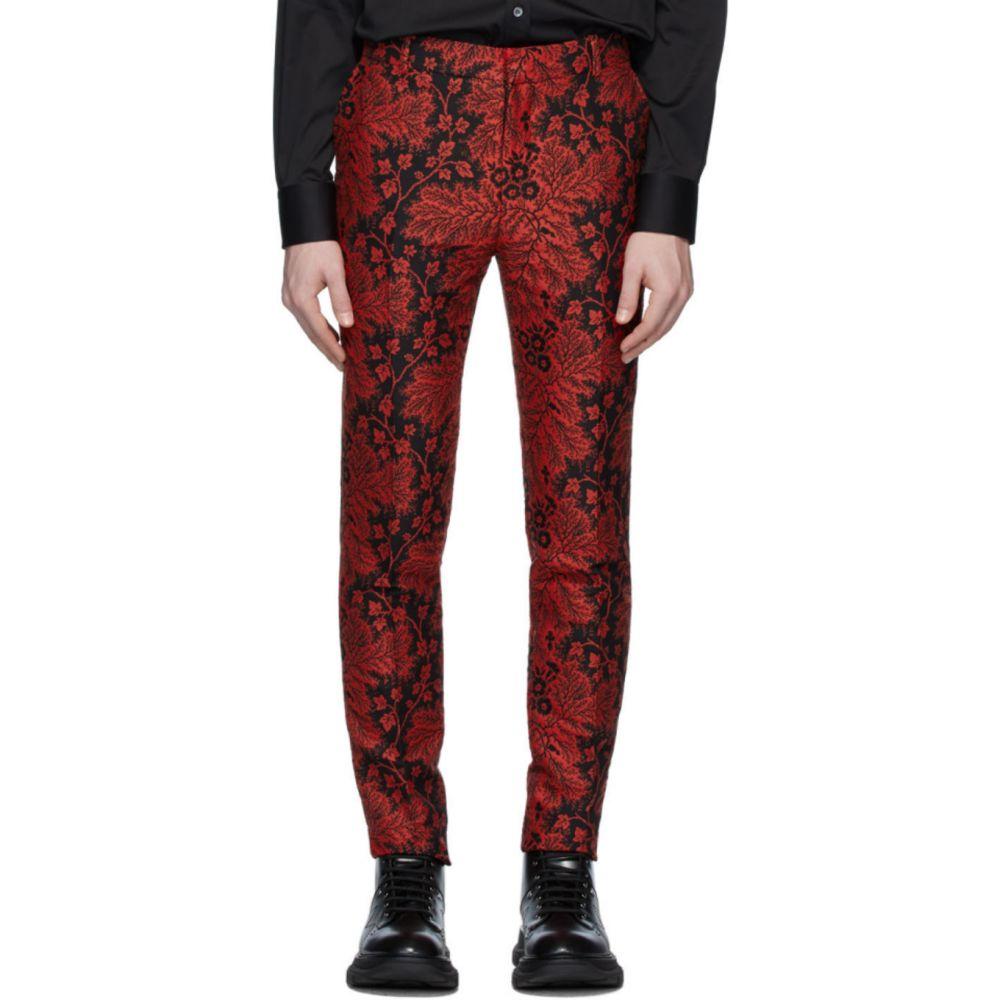 アレキサンダー マックイーン Alexander McQueen メンズ ボトムス・パンツ 【Black & Red Jacquard Ivy Creeper Trousers】Black/Red
