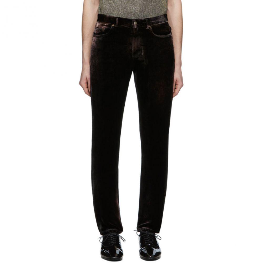 イヴ サンローラン Saint Laurent メンズ ボトムス・パンツ 【Black Velvet Trousers】Black