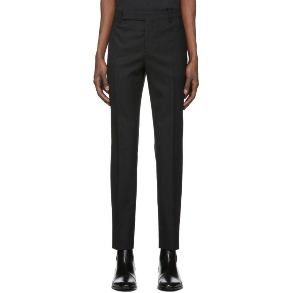 イヴ サンローラン Saint Laurent メンズ ボトムス・パンツ 【Black Lame Trousers】Noir