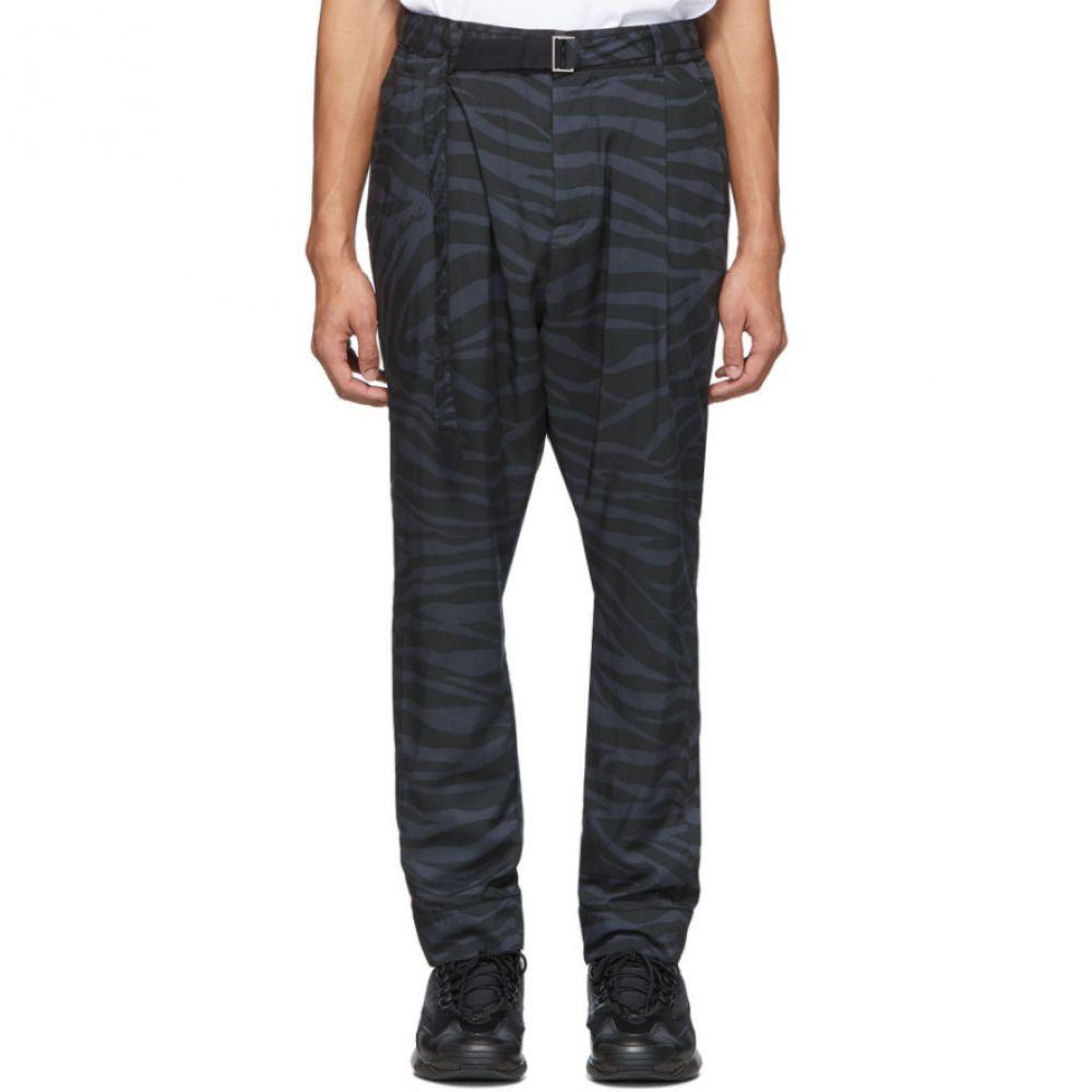 サカイ Sacai メンズ ボトムス・パンツ 【Grey & Black Satin Zebra Trousers】Grey/Black
