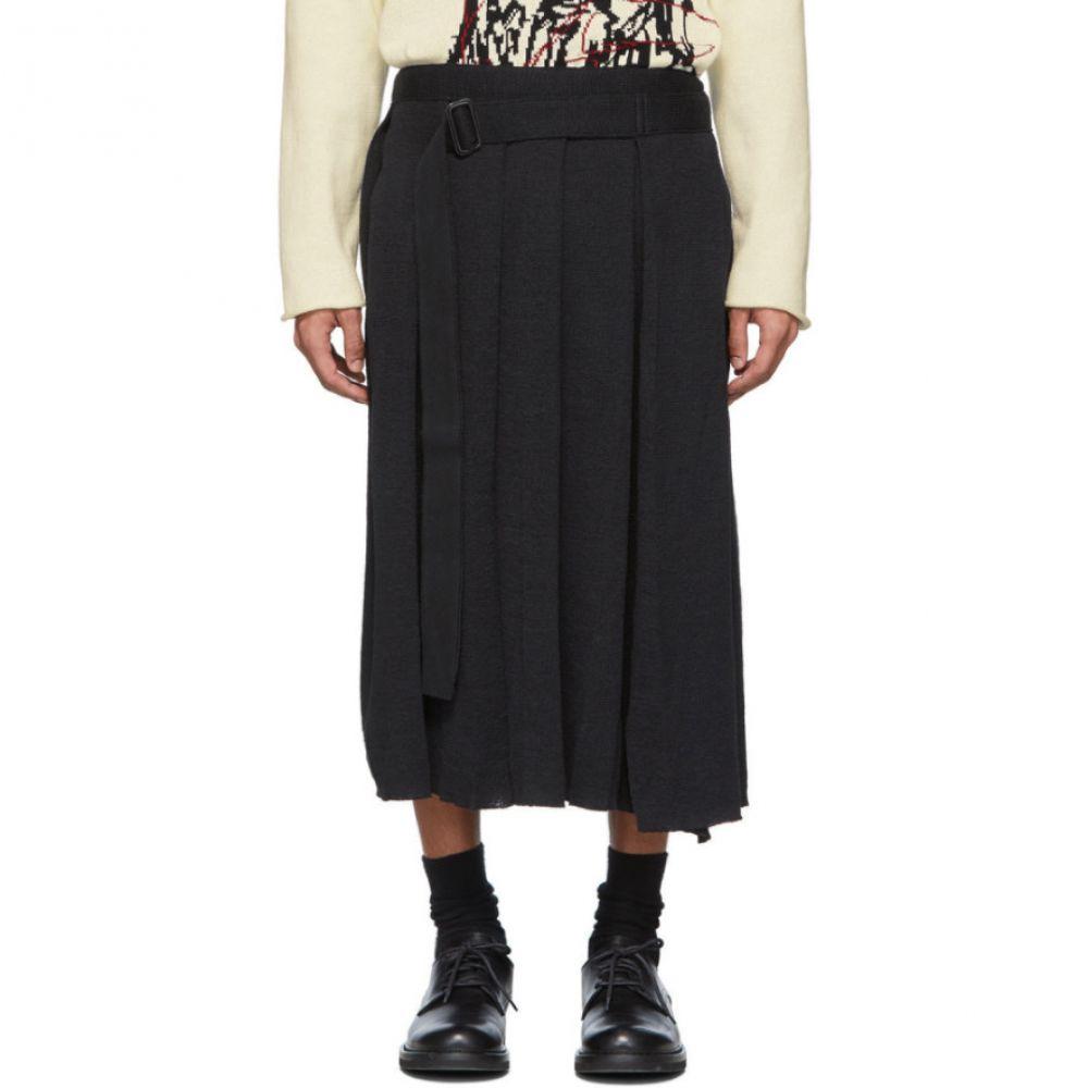 ヨウジヤマモト Yohji Yamamoto メンズ ボトムス・パンツ ラップスカート【Black Wrapped Skirt Trousers】Black