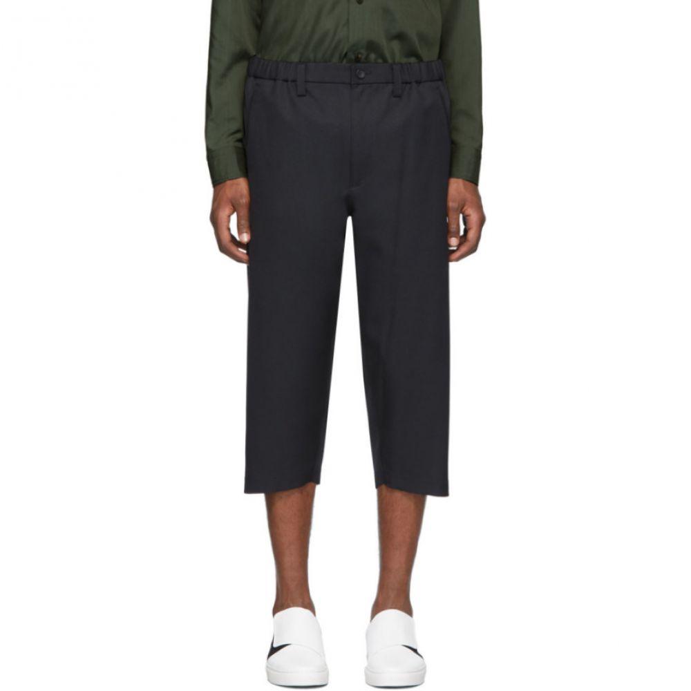 イッセイ ミヤケ Issey Miyake Men メンズ クロップド ボトムス・パンツ Black Pleated Cropped Trousers BlackOXiukPZ