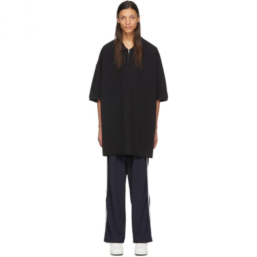 ランダム アイデンティティーズ Random Identities メンズ ポロシャツ トップス【Black Oversized Cut-Out Polo】Black