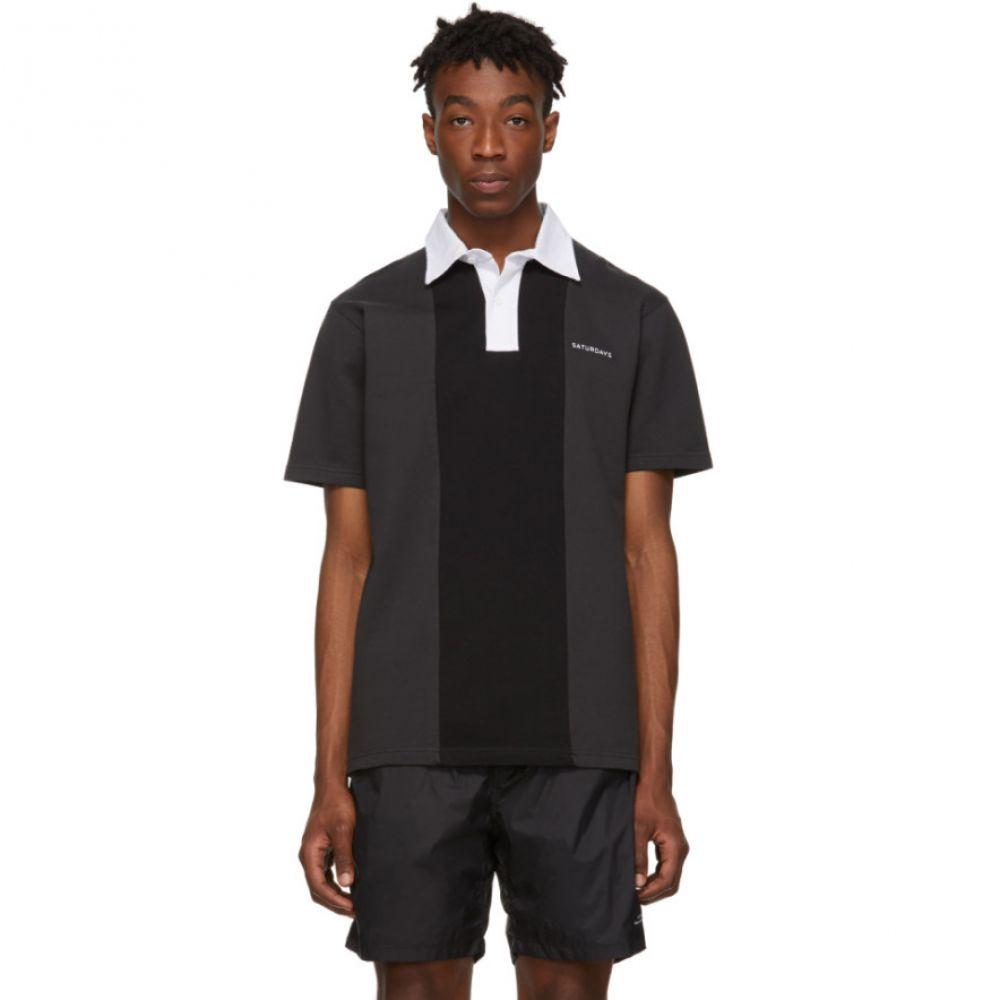 サタデーニューヨーク Saturdays NYC メンズ ポロシャツ トップス【Black Jake Polo】Charcoal