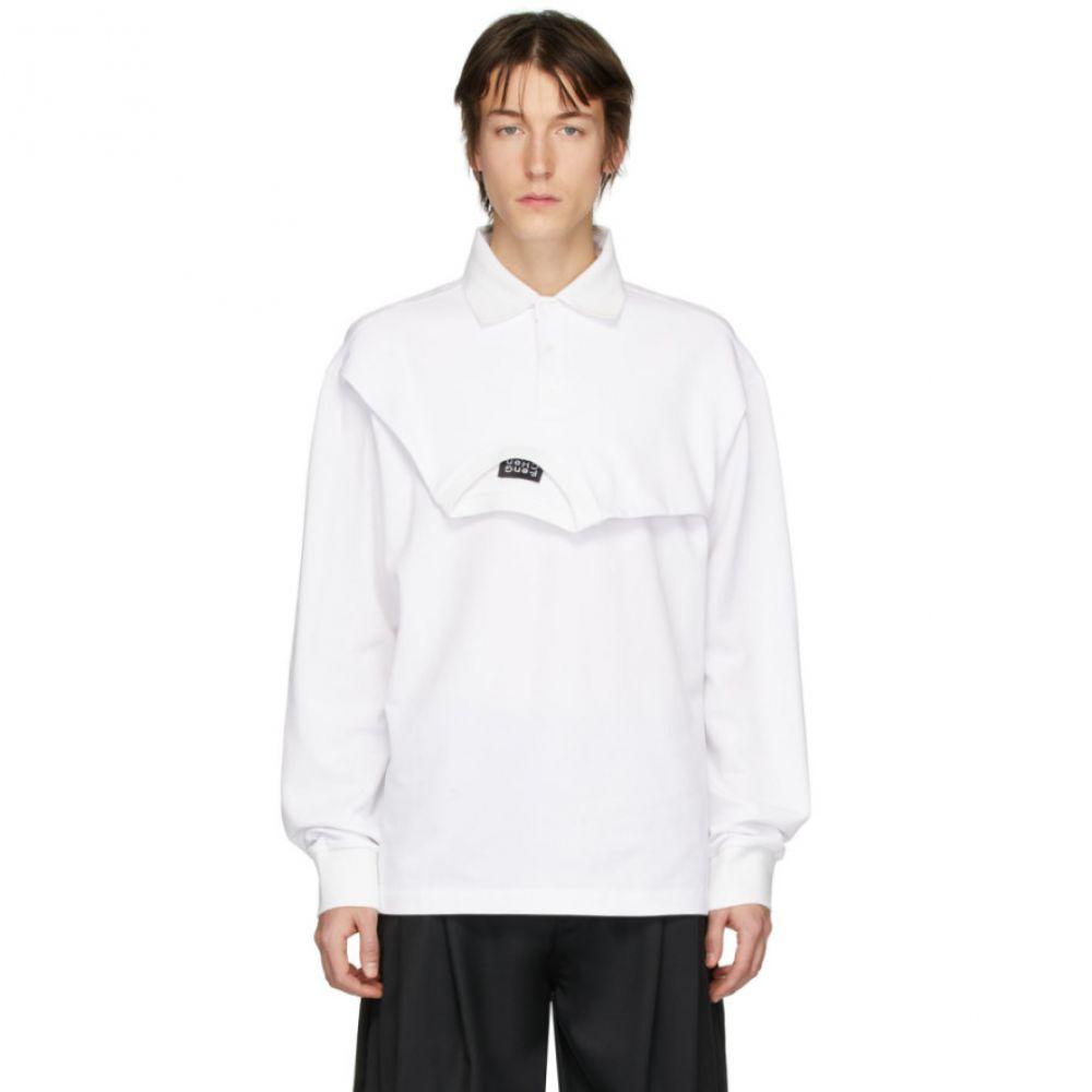 フェン チェン ワン Feng Chen Wang メンズ ポロシャツ トップス【White Double Collar Polo】White